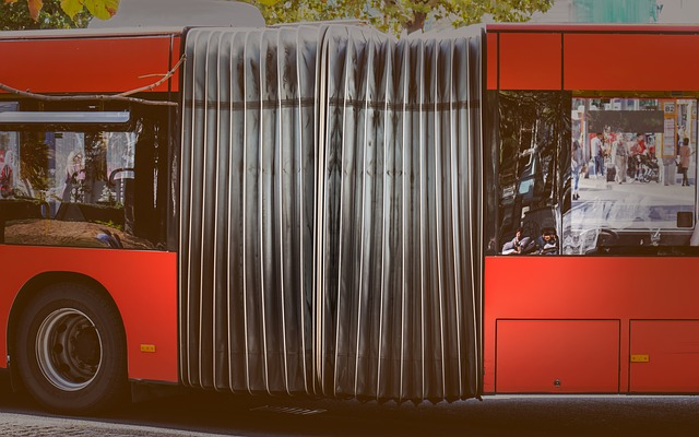 red city bus in oslo
