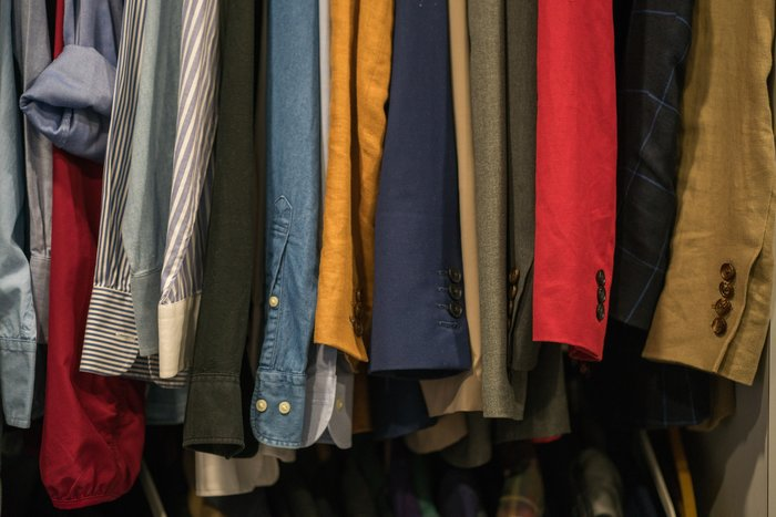 clothes in different colors